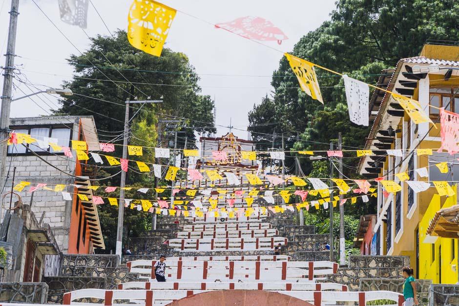 San Christobal festlich geschmückt
