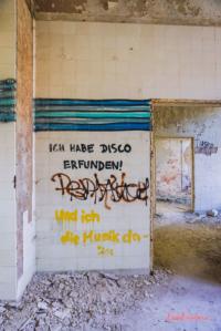 Kunst in Krankenhausruine