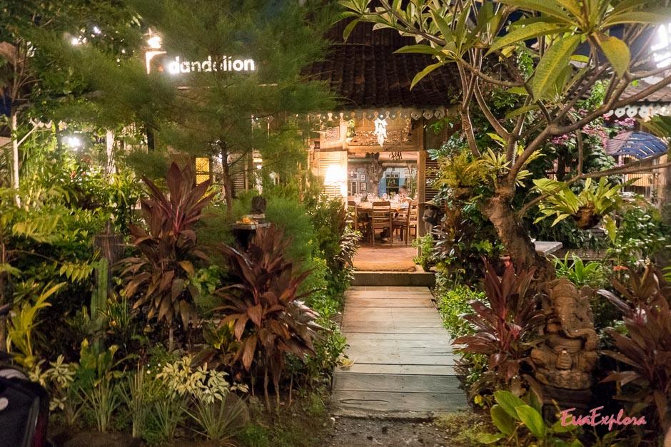 romantisch Essen auf Bali