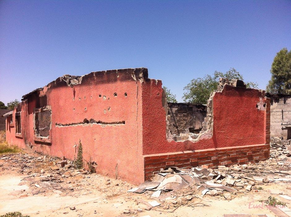 zerstörtes Haus Mexiko
