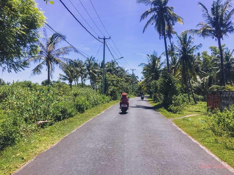Motorradtaxi auf Nusa Penida