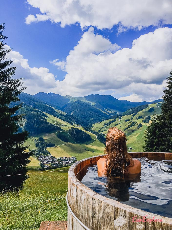 Hot Tube Aussicht Saalbach