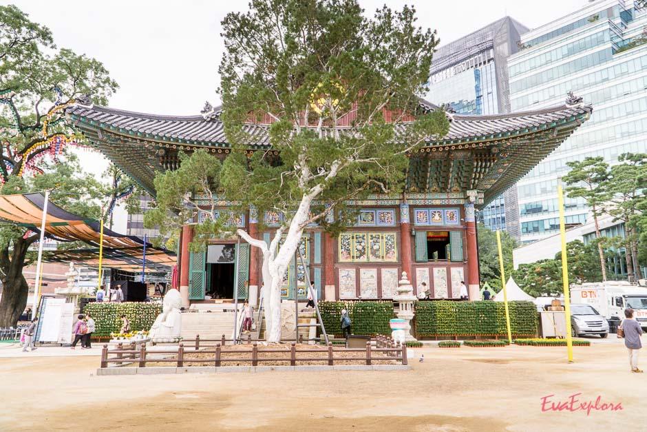 Tempel neben dem Hotel