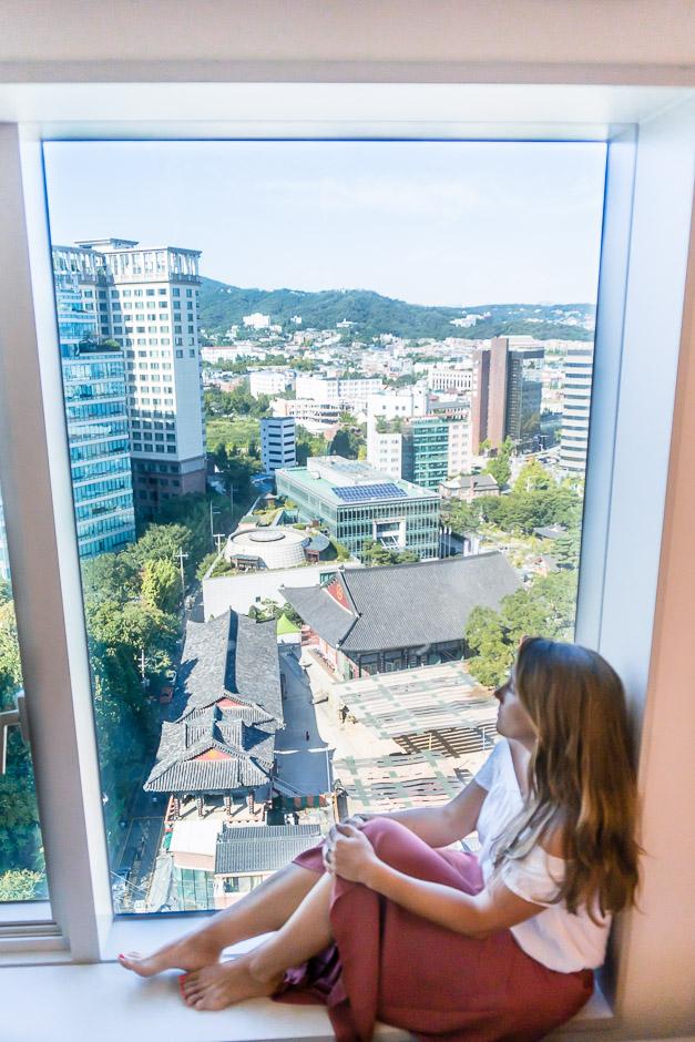 Mit dem Ausblick über Seoul lässt es sich genießen