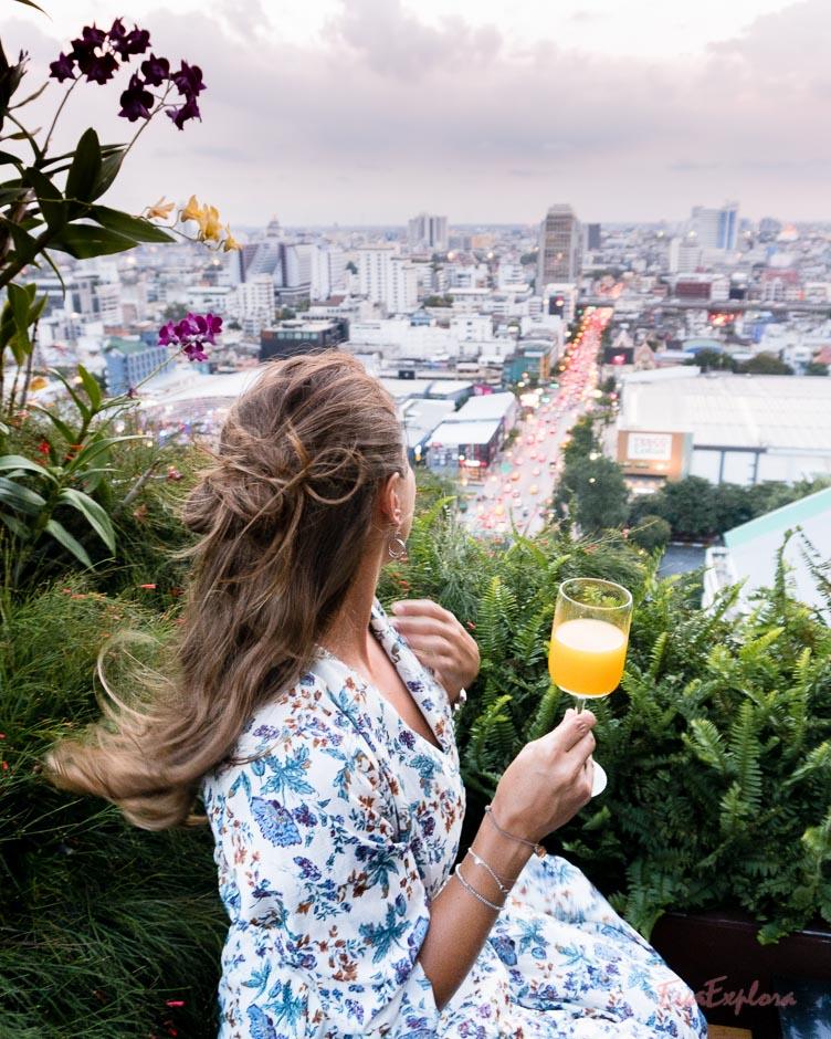 Drink auf der Terrasse