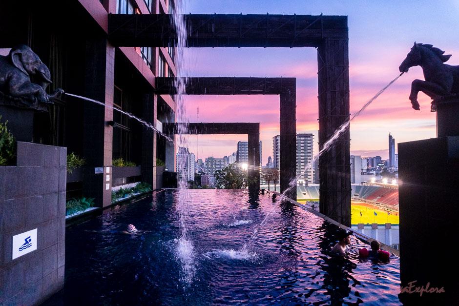 Der Pool im Siam@Siam mit großartiger Aussicht