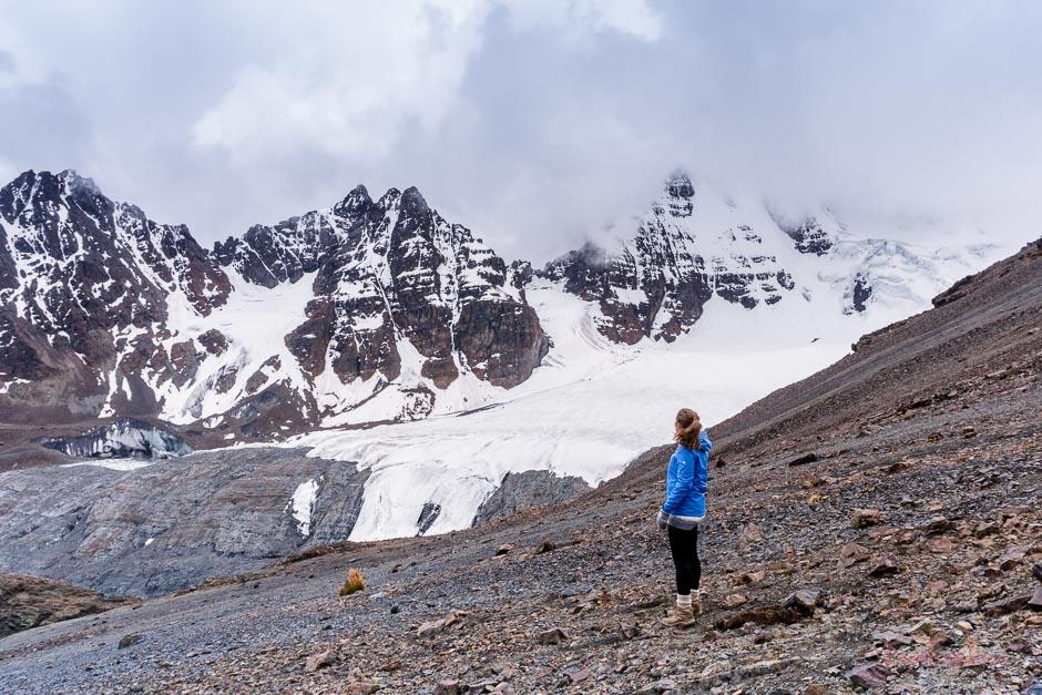 Gletscher und Berggipfel