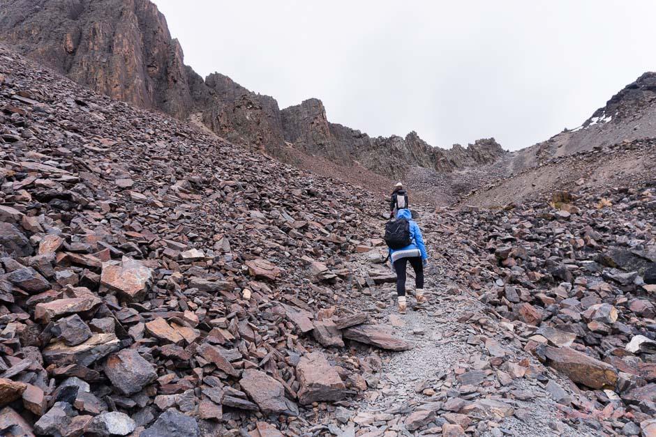 Bergsteigen ist anstrengend