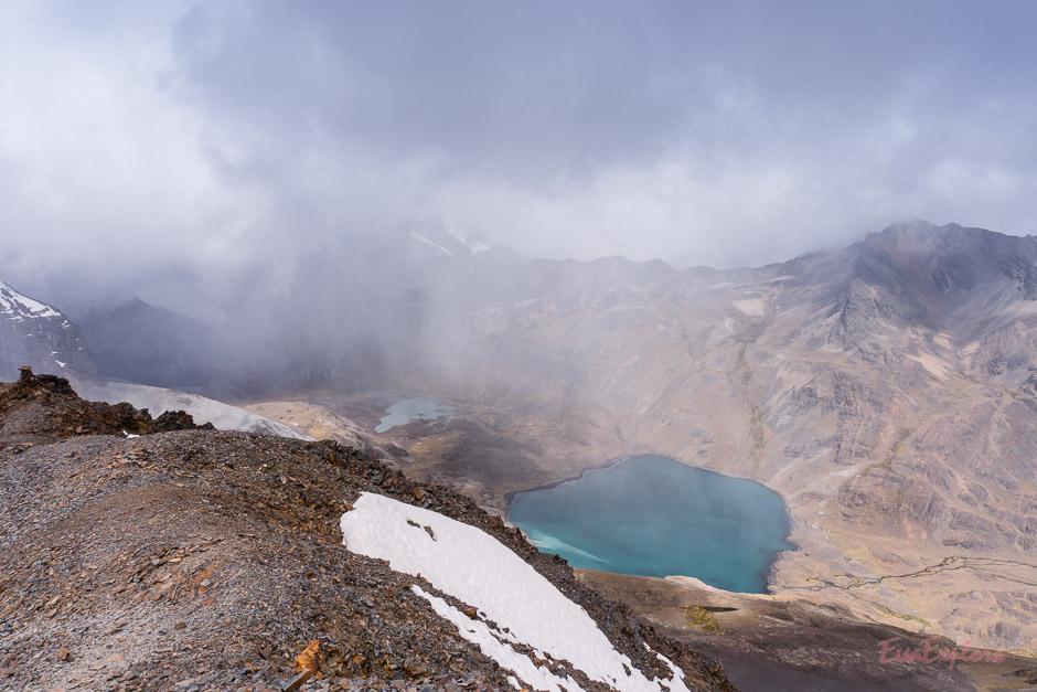 aufziehender Sturm am Gipfel