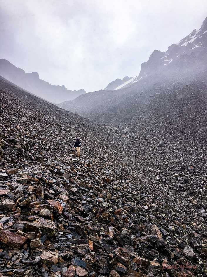 Abstieg vom Pico Austria