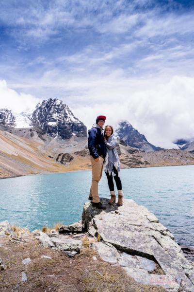 Steffi und Max vor Lagune Chiarkota