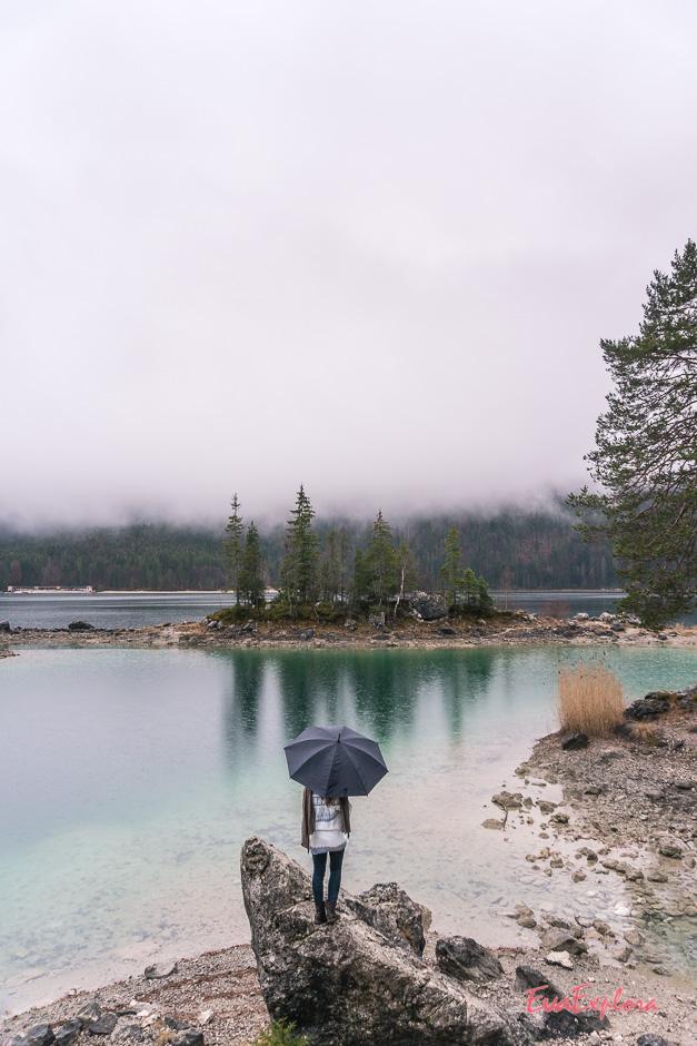 Eibsee bei Regen