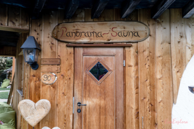 Panorama Sauna im Alpenstil