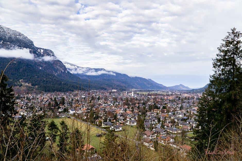 Garmisch von oben