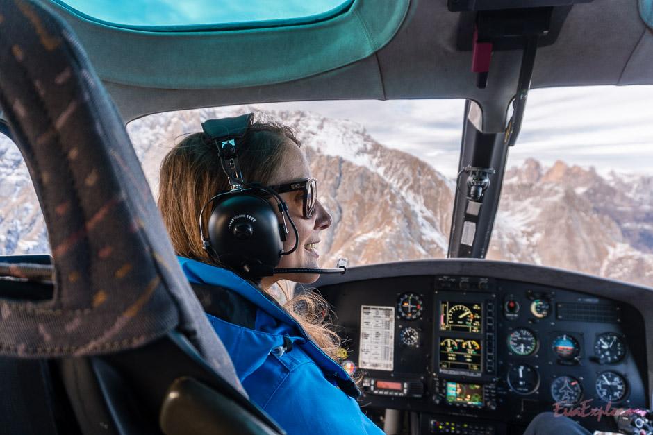 Hubschrauberflug in Obereggen