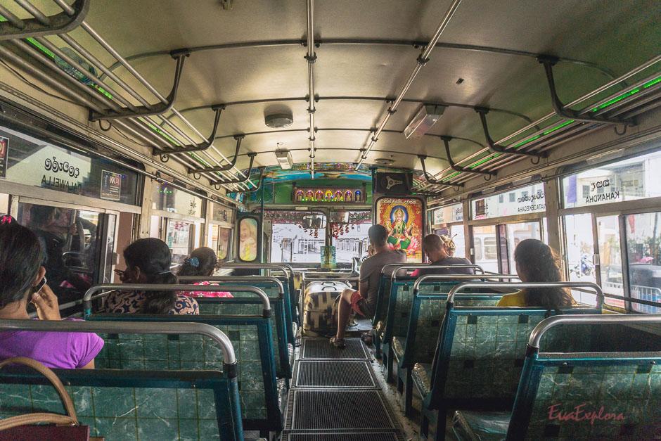 Busfahren Sri Lanka