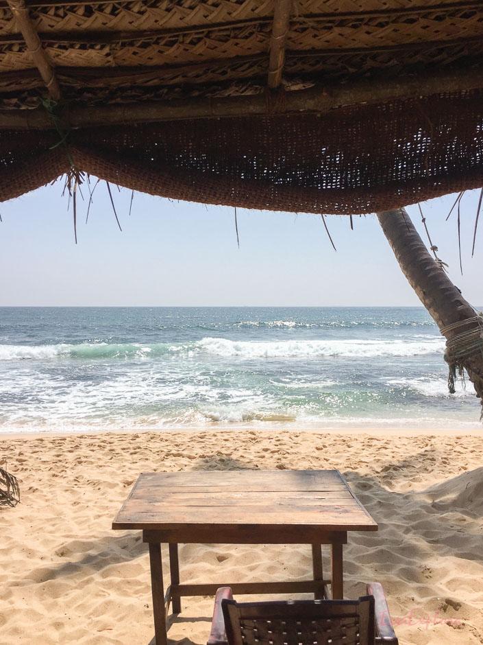 Strandrestaurant nahe Unawatuna