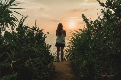 Sonnenuntergang Secret Beach