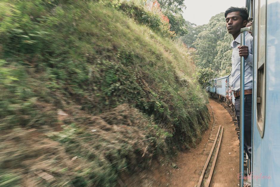 Zugfahren auf SriLanka