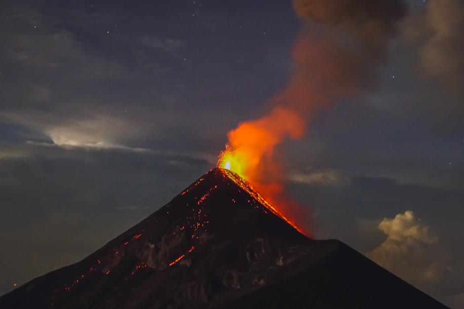 wandern auf den Vulkan