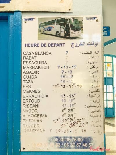 Busplan CTM Chefchaouen