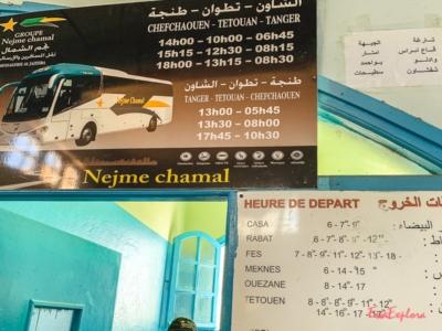 Bus fahren in Marokko