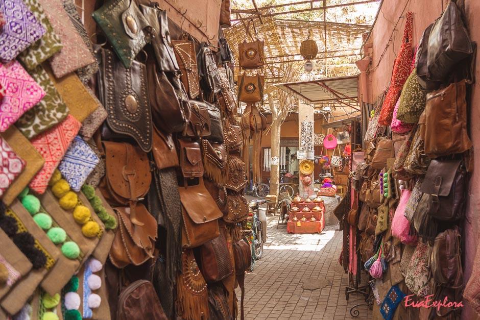 Ledertaschen kaufen in Marrakesch