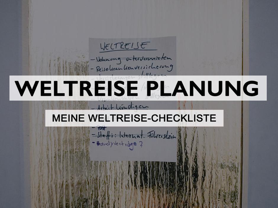 weltreise planung