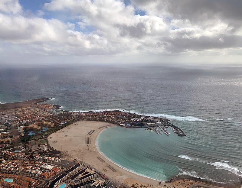 Anflug auf Fuerteventura