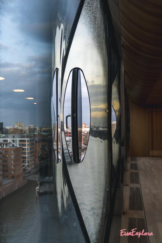 Spiegelung in der Elbphilhamonie