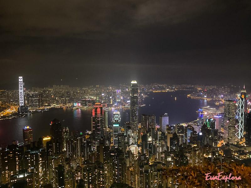 Hongkong Aussicht Nacht