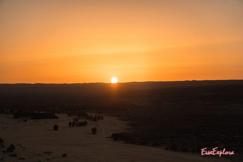 Sonnenuntergang Wuestentour Sahara