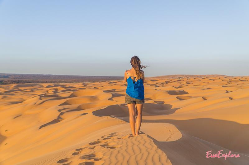 klettern in Sandduenen