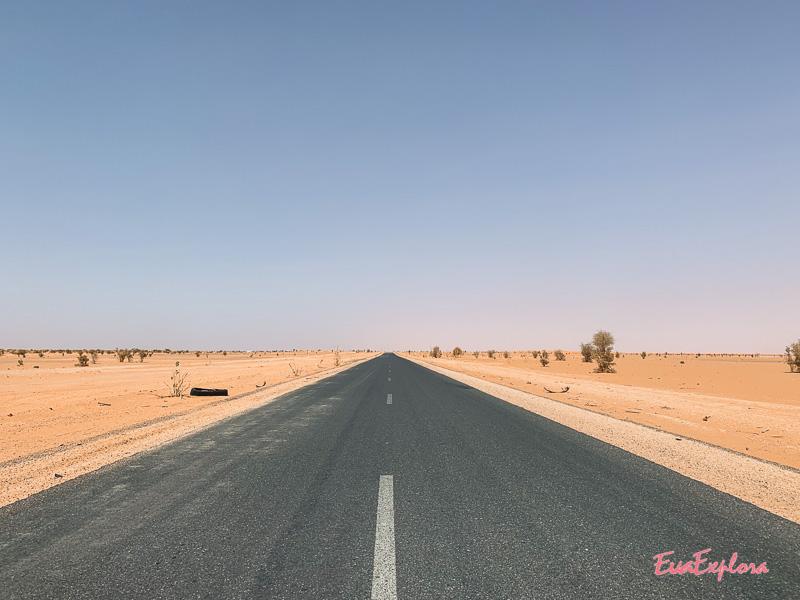 Schnellstrasse in Mauretanien