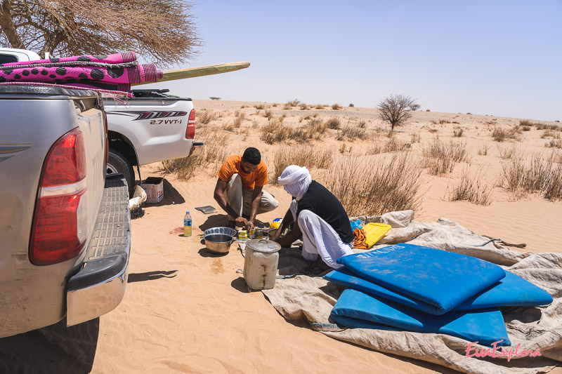 kochen in der Wüste