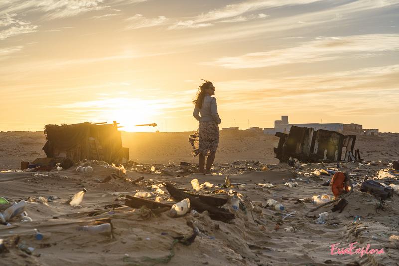 Sonnenuntergang Strand Mauretanien