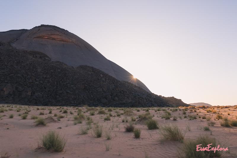 Monolith Ben Amira Sonneuntergang
