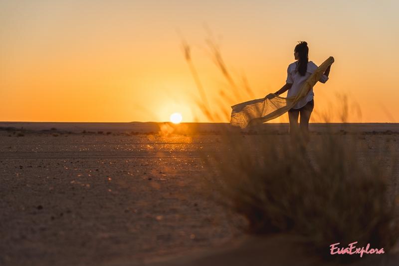 Sonnenuntergang Wüste Sahara