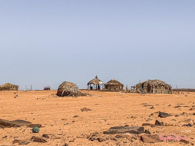 Dorf in der Sahara