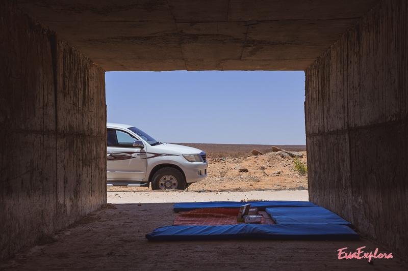Mittagspause in der Wüste