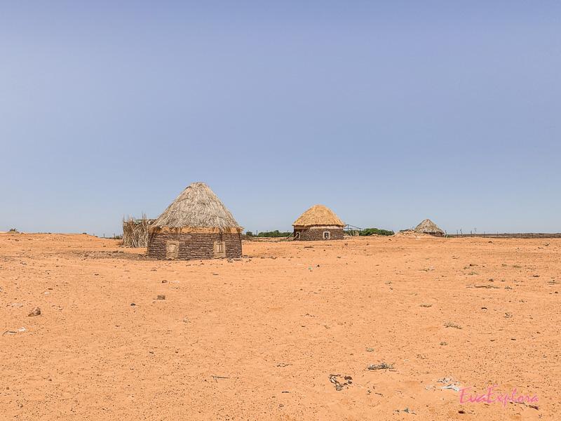 Häuser in der Wüste