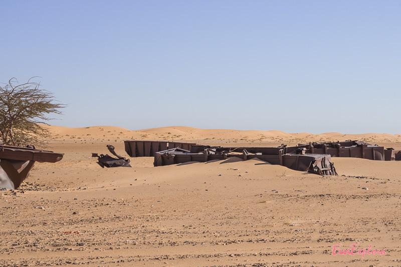 Zugwaggongs in der Sahara