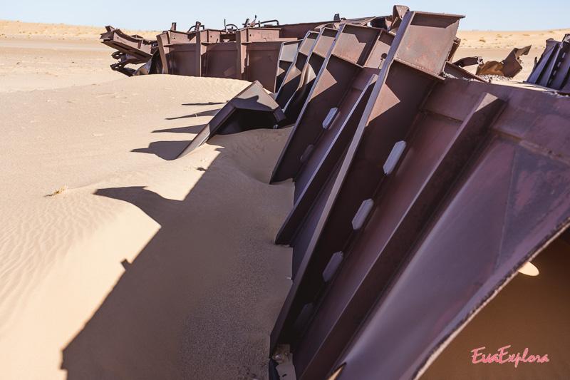 Waggongs im Sand