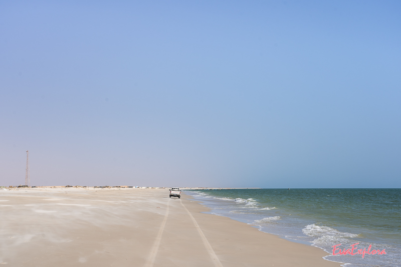 Auto fahren Strand Mauretanien