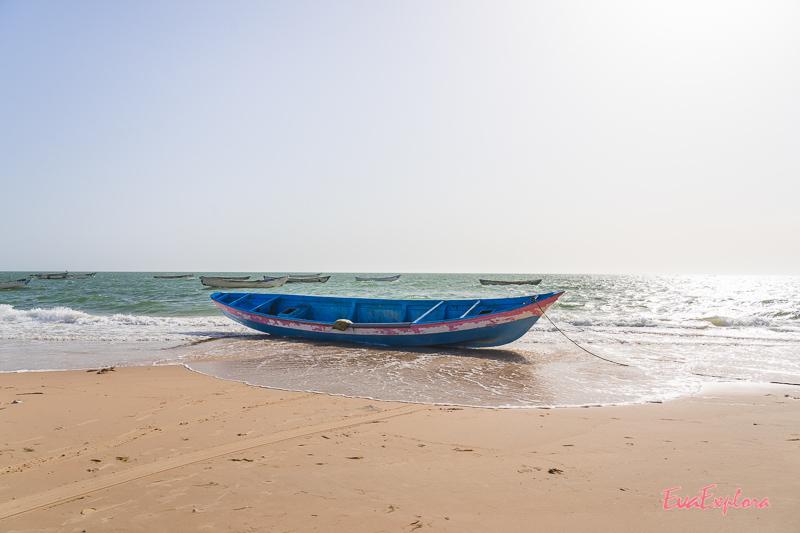 Boot am Strand Mauretanien