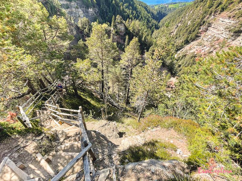 Treppensteigen Bletterbachschlucht