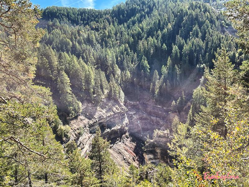 Wasserfall Bletterbachschlucht Totale